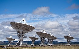 Photographie du radiotélescope du Very Large Array aux États-Unis