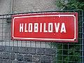 Veselí nad Lužnicí, Hlobilova, název ulice.jpg