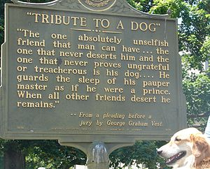 George Graham Vest - State historical marker in Owensboro, Kentucky