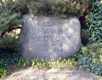 Hans Hedtoft - Grave of Hans and Ella Hedtoft at the Vestre Cemetery in Copenhagen