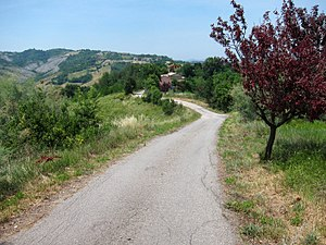 Via Vandelli - Via Vandelli on the hills in Province of Modena, close to Poggio Gaiano