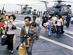 Vietnamese refugees arrive on USS Hancock (CVA-19) in 1975.jpg