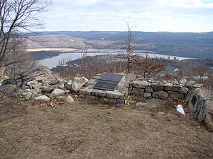 Redoubt Four (West Point) - Image: View from Redoubt Four, West Point NY