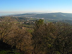 View from Tortoreto, Viadotto del Salinello.jpg