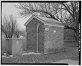 View from northwest - Chanute Air Force Base, Utility Vault, Senior Officer Ros, Rantoul, Champaign County, IL HABS ILL,10-RAN.V,1AD-2.tif