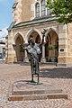 Villach Innenstadt Nikolaiplatz Franziskus-Skulptur vor der Nikolai-Kirche 03072018 3834.jpg