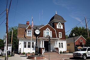 Fishkill, New York - Van Wyck Municipal Hall on Main Street