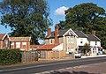 Village scene, Great Finborough, with Post Office - geograph.org.uk - 588158.jpg