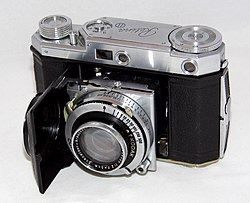 Vintage Kodak Retina II (Type 142) Folding Camera, Retina-Xenon f 2 Lens & Compur--Rapid Shutter, Made In Germany From 1937 - 1939 (35901172276).jpg