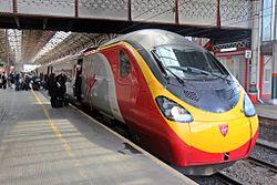 "Virgin Class 390, 390132 ""City of Birmingham"", Preston railway station (geograph 4499645).jpg"