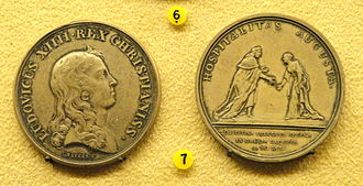 Jean Mauger - medallion commemorating the visit of Christina, Queen of Sweden to France by Jean Mauger, National Museum of Finland, 1656