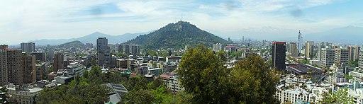 Vista del cerro San Cristóbal - Cerro Santa Lucia - Santiago - Chile - panoramio