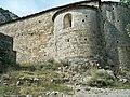 Vista exterior de l'absis lateral de l'església Parroquial de Sant Maximí.JPG