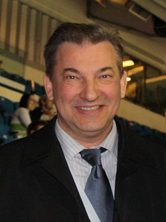 "Medal ""For Labour Valour"" - Star hockey goaltender Vladislav Tretiak, a recipient of the Medal ""For Labour Valour"""