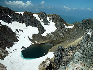 Mount Yake - Image: Volcanic craters from Mount Yake North peak 2002 6 5