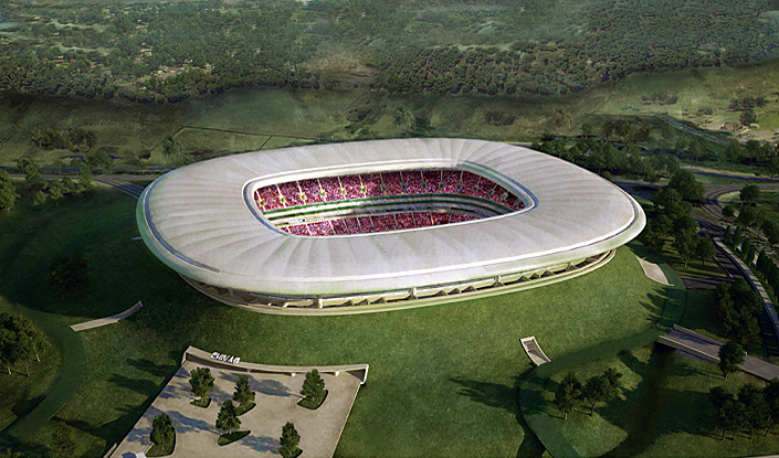 Volcano stadium