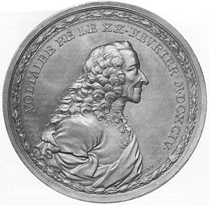Medal depicting Voltaire