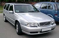 Front passenger side view of silver V70