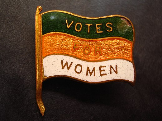 British Women's Social and Political Union lapel pin