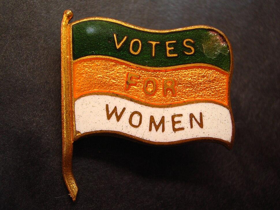 Votes for Women lapel pin (Nancy)