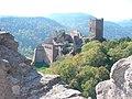 Vue depuis le château du Girsberg (528 m) - Château du Saint Ulrich (528 m) (Ribeauvillé) (2).jpg
