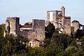 Vue des deux châteaux forts de Roquetaillade - château vieux et château neuf.jpg