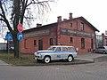 Włocławek-building at 69 Okrzei Street and Warszawa car (2).jpg