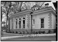 WEST SIDE ELEVATION, LOOKING NORTHEAST - Carnegie Free Library, 300 East South Street, Union, Union County, SC HABS SC,44-UNI,1-9.tif