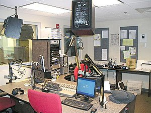 WHUS - WHUS On-Air Studio in 2007