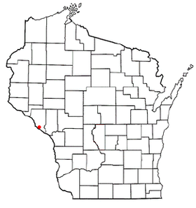 Location of Fountain City, Wisconsin