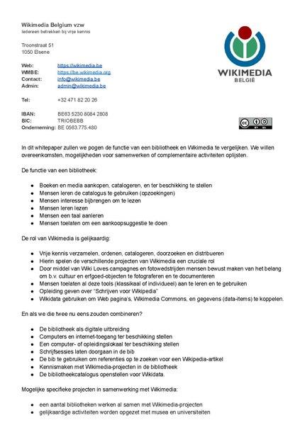 File:WMBE-Hoe bibliotheken kunnen samenwerken met Wikimedia.pdf
