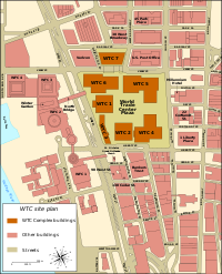 WTC site plan prior to 9/11/2001