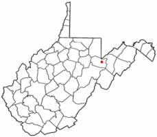 Location of Davis, West Virginia