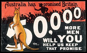 Australian conscription referendum, 1916 - Poster Encouraging Enlistments, 1915