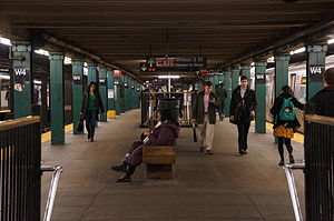 West Fourth Street–Washington Square (New York City Subway) - IND Eighth Avenue Line platforms