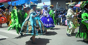 Waka waka (dance) - Waka waka during the festival Virgen de la Candelaria in Puno, Peru