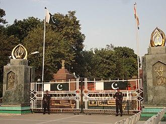 Paramilitary forces of Pakistan - Image: Wahga Border