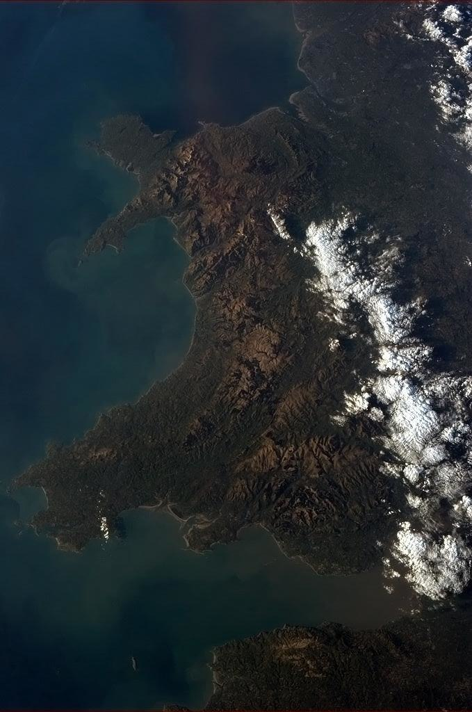 Wales from ISS
