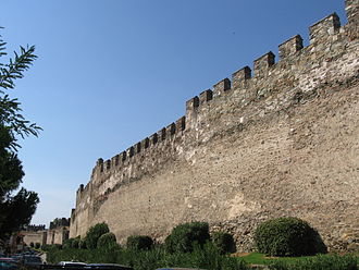 Byzantine Greece - Part of the Walls of Thessaloniki.
