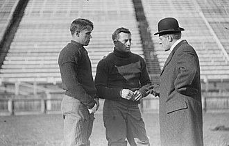 John Kilpatrick - John Kilpatrick (in the middle) with Walter Logan and Ralph Bloomer, on field, Yale University 1909
