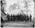 Warrenton, Va. Gen. Ambrose E. Burnside and staff LOC cwpb.03789.tif