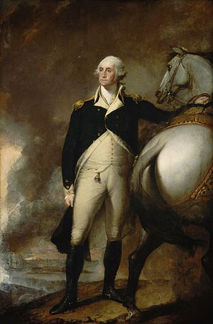 Fortification of Dorchester Heights - George Washington at Dorchester Heights by Gilbert Stuart, 1806