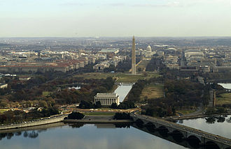 Baltimore–Washington metropolitan area - Image: Washington DC Mall Aerial Navy Photo