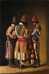 Dervishes in Festive Dress. Tashkent
