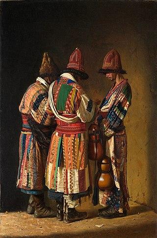 Дервиши в праздничных нарядах, 1869-1870