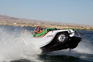 Panther (car-boat) - Image: Water Car Panther at High Speeds