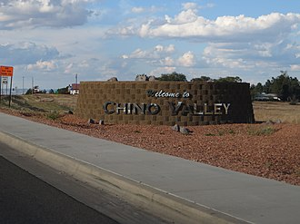 Chino Valley, Arizona - Chino Valley welcome sign