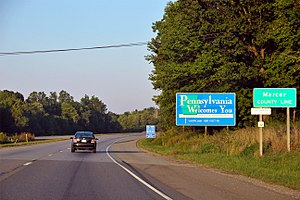Shenango Township, Mercer County, Pennsylvania - Entering the township on Interstate 80