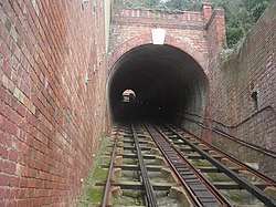 Tunnel der West Hill Cliff Railway