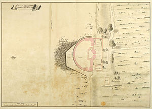 Cowes Castle - 1725 plan of the castle